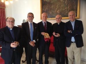 Il Capo della Polizia Franco Gabrielli in visita alla Curia di Foggia
